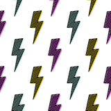明亮的雷电无缝的样式乐趣设计 皇族释放例证