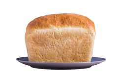 明亮的面包在白色背景的 免版税库存图片