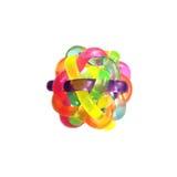 明亮的颜色橡胶知觉球  免版税图库摄影