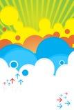 明亮的颜色海报夏天 免版税库存照片