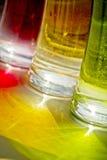 明亮的颜色玻璃绿色红色黄色 免版税库存照片
