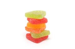 明亮的颜色甜点 免版税库存照片