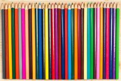明亮的颜色铅笔 免版税库存照片