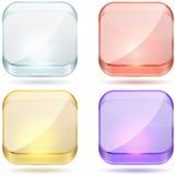 明亮的颜色玻璃按钮。 免版税库存照片