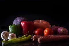 明亮的颜色素食者 图库摄影