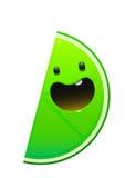 明亮的水多的鲜美绿色石灰动画片乐趣 免版税库存图片