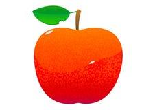 明亮的水多的鲜美绿色苹果动画片 免版税图库摄影
