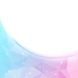 明亮的水晶亮光边界背景模板 免版税库存图片