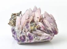明亮的紫晶 库存照片