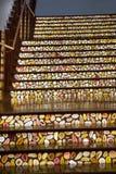 明亮的水果的台阶 库存图片