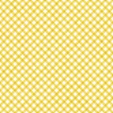 明亮的黄色方格花布样式重复背景 图库摄影