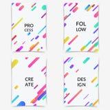 明亮的minimalistic时尚线文件夹盖子汇集 免版税库存照片