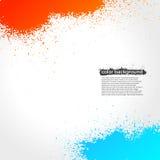 明亮红色,橙色和蓝色泼溅物油漆的难看的东西 免版税图库摄影