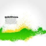 明亮绿色和黄色泼溅物油漆的难看的东西 免版税库存图片