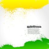 明亮绿色和黄色泼溅物油漆的难看的东西 库存图片