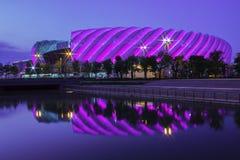 明亮dazzing体育场 免版税库存图片