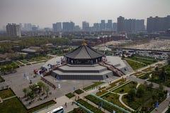 明代寺庙废墟的一个完全看法在周朝的首都的在洛阳,中国 免版税库存图片