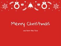 明信片新年和圣诞节 库存照片