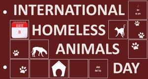 明信片无家可归的动物天 库存照片