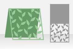 明信片激光切口的本质 剪影设计 免版税库存照片
