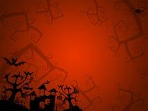 明信片的万圣夜红色背景 图库摄影