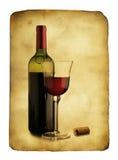 明信片葡萄酒 库存照片