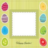 明信片: 复活节快乐。 复活节彩蛋 免版税图库摄影