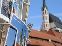 明信片细节在捷克克鲁姆洛夫在捷克 免版税库存照片
