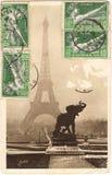 巴黎明信片 免版税库存照片