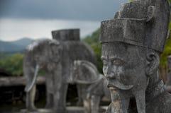 明命帝皇家坟茔,颜色,越南 免版税图库摄影