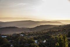 黎明在山区 图库摄影