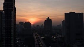 黎明在曼谷,泰国 免版税库存照片