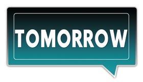 明天在染黑梯度方形的讲话泡影的绿松石 库存照片