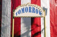 明天标志 免版税库存图片