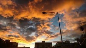 黎明天空 库存照片