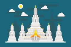 黎明寺泰国寺庙 免版税库存照片