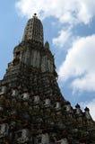 黎明寺Phra prang在曼谷 免版税库存照片