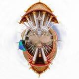 360黎明寺Ratchawararam Ratchawaramahawihan全景  图库摄影