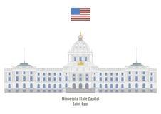明尼苏达状态国会大厦,圣保罗 库存例证