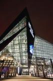 明尼苏达维京人美国银行体育场在米尼亚波尼斯在晚上,站点超级杯52 免版税库存图片