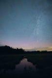 明尼苏达银河 图库摄影