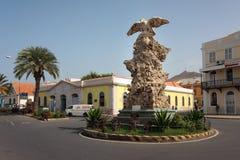 明德卢地标老鹰雕象,圣维森特 图库摄影