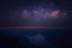 明显地银河 库存照片