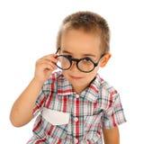 明智的小男孩 免版税库存照片