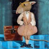 明智的鼠 免版税库存图片