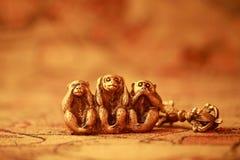 明智的猴子三 图库摄影