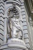 明智经典的雕象 免版税库存照片