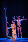 明白和模糊,等待和愤怒差事到迷宫现代舞蹈舞蹈动作设计者玛莎・葛兰姆里 免版税库存照片