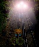 明确的夜间列车 免版税库存图片