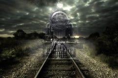 明确的夜间列车 库存照片